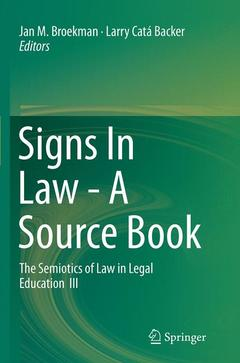 Couverture de l'ouvrage Signs In Law - A Source Book