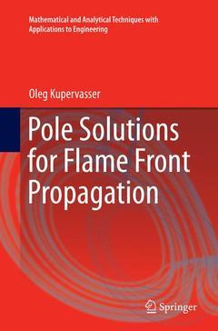 Couverture de l'ouvrage Pole Solutions for Flame Front Propagation