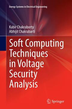 Couverture de l'ouvrage Soft Computing Techniques in Voltage Security Analysis