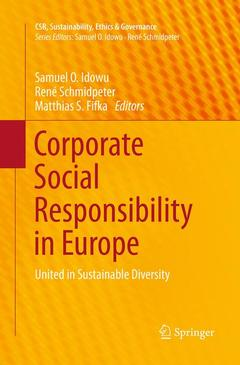 Couverture de l'ouvrage Corporate Social Responsibility in Europe