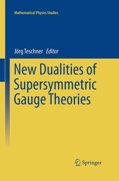 Couverture de l'ouvrage New dualities of Supersymmetric Gauge Theories