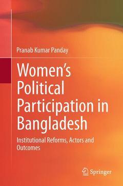 Couverture de l'ouvrage Women's Political Participation in Bangladesh