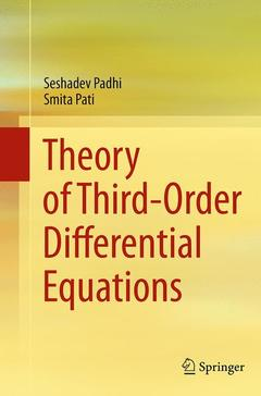 Couverture de l'ouvrage Theory of Third-Order Differential Equations