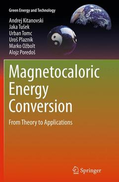 Cover of the book Magnetocaloric Energy Conversion