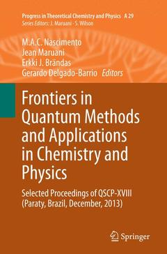 Couverture de l'ouvrage Frontiers in Quantum Methods and Applications in Chemistry and Physics