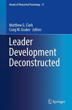 Cover of the book Leader Development Deconstructed
