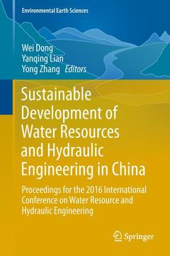 Couverture de l'ouvrage Sustainable Development of Water Resources and Hydraulic Engineering in China