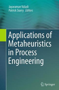 Couverture de l'ouvrage Applications of Metaheuristics in Process Engineering