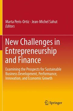 Couverture de l'ouvrage New Challenges in Entrepreneurship and Finance