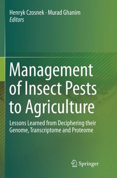 Cover of the book Management of Insect Pests to Agriculture