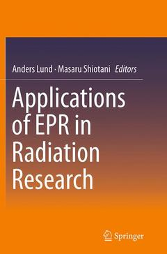 Cover of the book Applications of EPR in Radiation Research