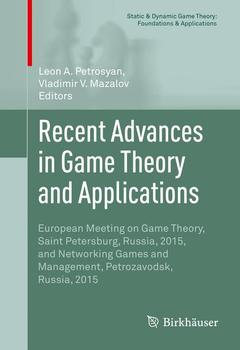 Cover of the book Recent Advances in Game Theory and Applications