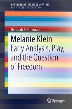 Couverture de l'ouvrage Melanie Klein