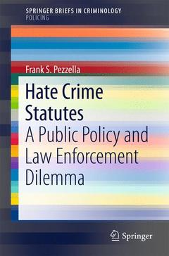 Cover of the book Hate Crime Statutes