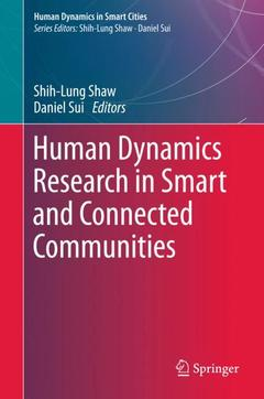 Couverture de l'ouvrage Human Dynamics Research in Smart and Connected Communities