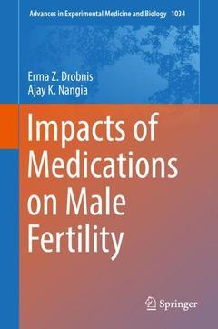Couverture de l'ouvrage Impacts of Medications on Male Fertility