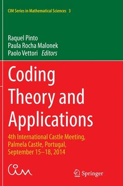 Couverture de l'ouvrage Coding Theory and Applications
