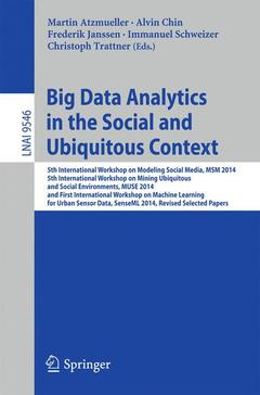Couverture de l'ouvrage Big Data Analytics in the Social and Ubiquitous Context