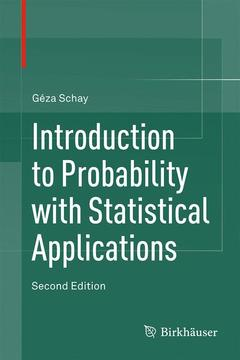 Couverture de l'ouvrage Introduction to Probability with Statistical Applications