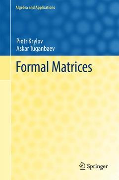 Couverture de l'ouvrage Formal Matrices