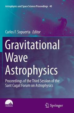 Couverture de l'ouvrage Gravitational Wave Astrophysics
