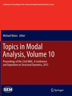 Couverture de l'ouvrage Topics in Modal Analysis, Volume 10
