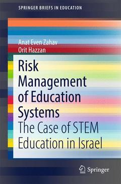 Couverture de l'ouvrage Risk Management of Education Systems