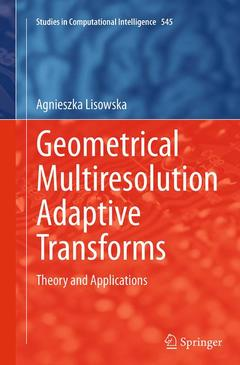 Couverture de l'ouvrage Geometrical Multiresolution Adaptive Transforms