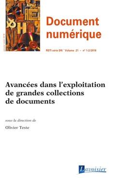 Couverture de l'ouvrage Avancées dans l'exploitation de grandes collections de documents