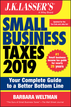 Cover of the book J.K. Lasser′s Small Business Taxes 2019