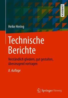 Couverture de l'ouvrage Technische Berichte