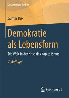 Couverture de l'ouvrage Demokratie als Lebensform
