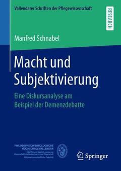 Couverture de l'ouvrage Macht und Subjektivierung