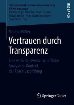 Couverture de l'ouvrage Vertrauen durch Transparenz