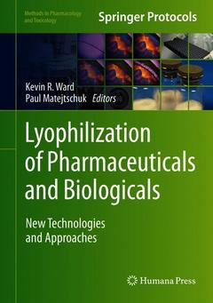 Couverture de l'ouvrage Lyophilization of Pharmaceuticals and Biologicals