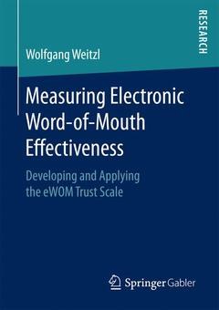 Couverture de l'ouvrage Measuring Electronic Word-of-Mouth Effectiveness