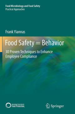 Couverture de l'ouvrage Food Safety=Behavior