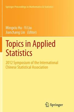 Couverture de l'ouvrage Topics in Applied Statistics