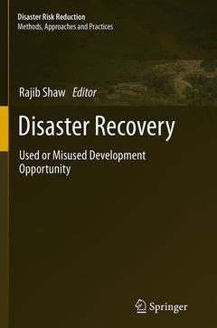 Couverture de l'ouvrage Disaster Recovery