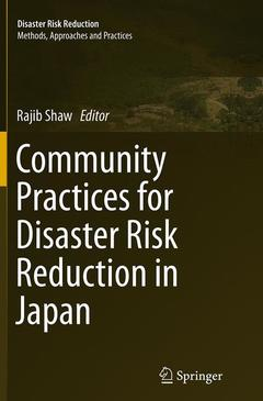 Couverture de l'ouvrage Community Practices for Disaster Risk Reduction in Japan