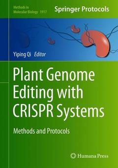 Cover of the book  Plant Genome Editing with CRISPR Systems
