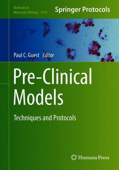 Couverture de l'ouvrage Pre-Clinical Models