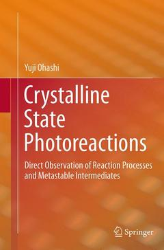 Couverture de l'ouvrage Direct Observation of Crystalline State Reactions. Structures of Metastable Intermediates