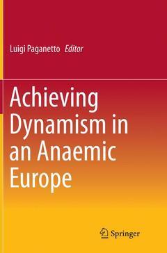 Couverture de l'ouvrage Anaemic Europe