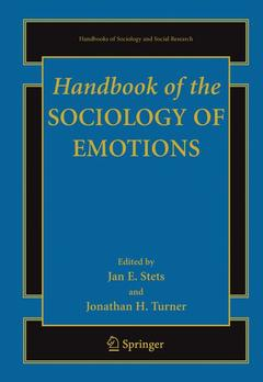Cover of the book Handbook of the sociology of emotions