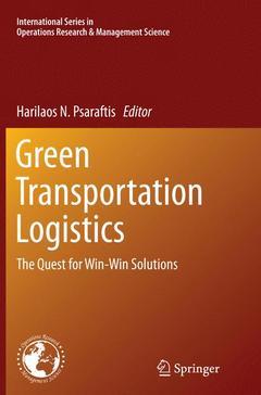 Couverture de l'ouvrage Green Transportation Logistics