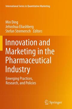 Couverture de l'ouvrage Innovation and Marketing in the Pharmaceutical Industry