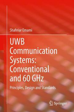 Couverture de l'ouvrage UWB Communication Systems: Conventional and 60 GHz