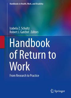 Couverture de l'ouvrage Handbook of Return to Work