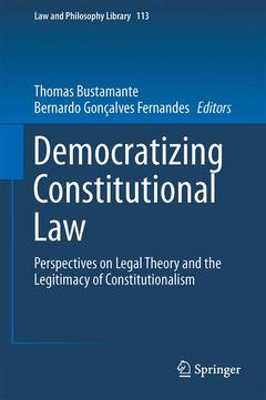 Cover of the book Democratizing Constitutional Law